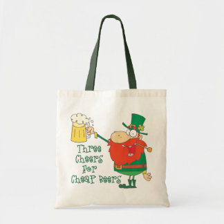 Funny Beer St. Patricks Day Tote Bags