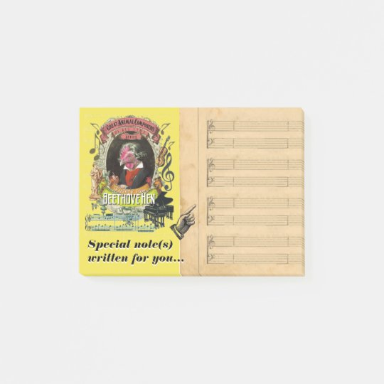 Funny Beethovehen Beethoven Music Parody Post-it Notes