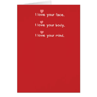 Funny Belly Button Lint Valentine's Day Card