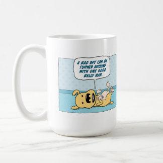 Funny Belly Rub Dog coffee mug