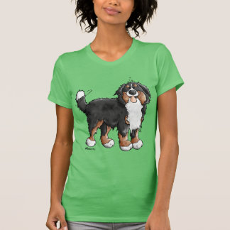 Funny Bernese Mountain Dog Cartoon Tshirt