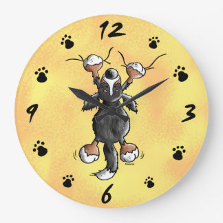 Funny Bernese Mountain Dog Wall Clock
