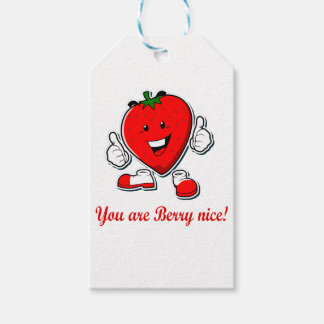 Funny Berry nice unique strawberry pun quote Gift Tags