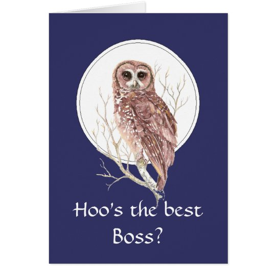 Funny Best Boss? Thank You Wise Owl Humour