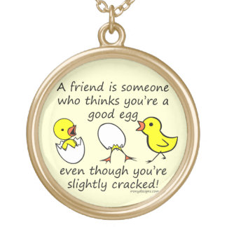 Funny Best Friend Saying Gold Plated Necklace