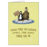 Funny Best Friends Forever Cards: A-Drift Greeting Card