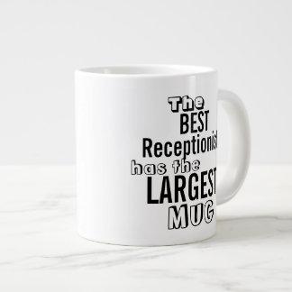 Funny Best RECEPTIONIST Big Mug Office Quote Jumbo Mug
