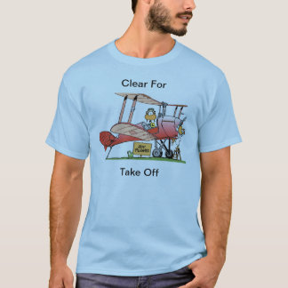 Funny Bi-Plane Cartoon Shirt