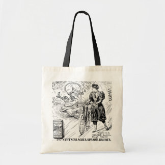 Funny bicycle riding - vintage bikes tote bag