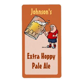 Funny Big Beer Guy Homebrew Beer Label