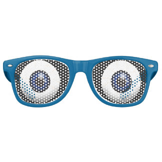 Funny Big Blue Eyes Retro Sunglasses