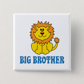 Funny Big Brother 15 Cm Square Badge