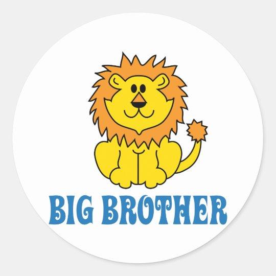Funny Big Brother Classic Round Sticker