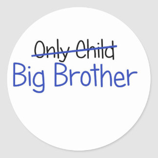 Funny Big Brother Design Classic Round Sticker