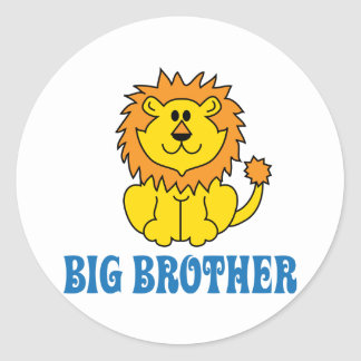 Funny Big Brother Classic Round Sticker