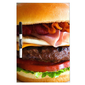 Funny big burger dry erase board