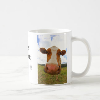 Funny big cow that says Use your head Coffee Mug