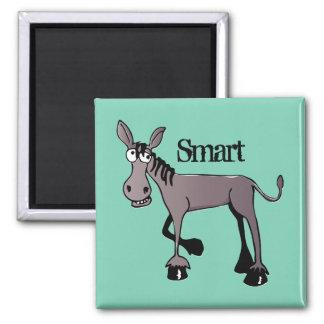 Funny Big Eyed Donkey Square Magnet