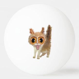 Funny Big Eye'd Kitty Cat Ping Pong Ball