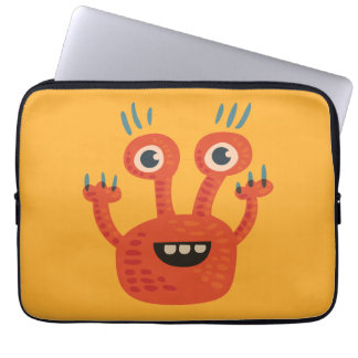 Funny Big Eyed Smiling Cute Monster Computer Sleeves