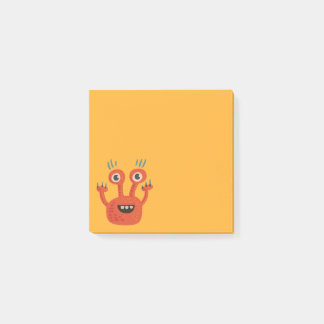 Funny Big Eyed Smiling Cute Monster Post-it® Notes
