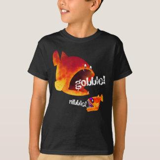 """Funny Big Fish Little Fish """"Gobble and Nibble!"""" T-Shirt"""