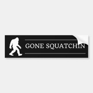 Funny Big Foot Gone Squatchin Sasquatch Bumper Sticker