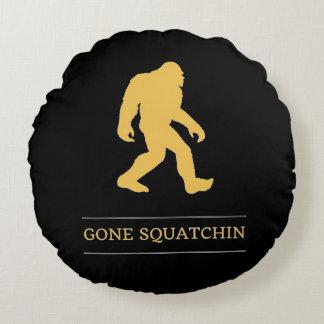 Funny Big Foot Gone Squatchin Sasquatch Round Cushion