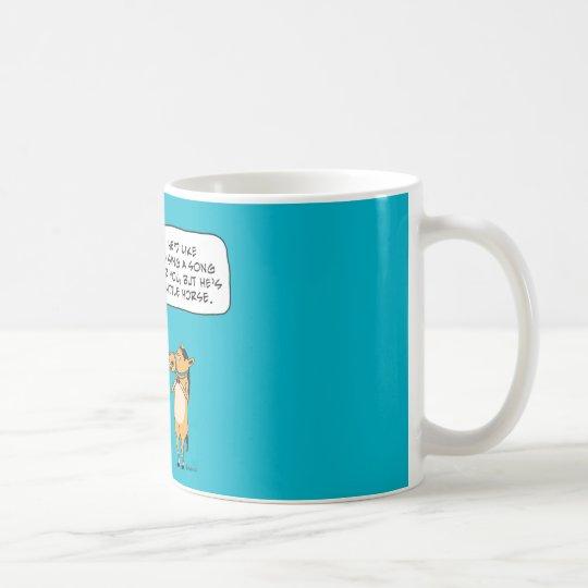 Funny Big Horse and Little Horse Coffee Mug