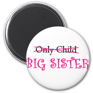 Funny Big Sister in Pink Refrigerator Magnets
