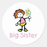 Funny Big Sister Round Sticker