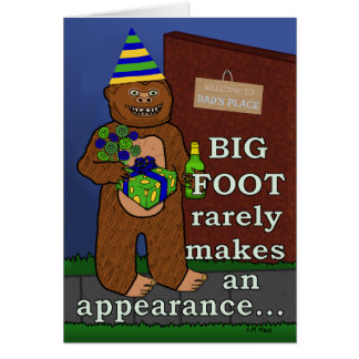 Funny Bigfoot Father's Day Pun Sasquatch Dad Greeting Card