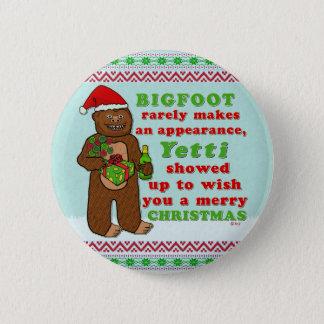 Funny Bigfoot Merry Christmas Sasquatch Pun 6 Cm Round Badge