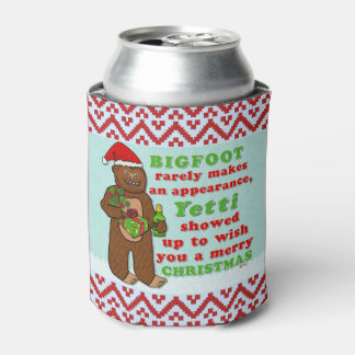 Funny Bigfoot Merry Christmas Sasquatch Pun Can Cooler