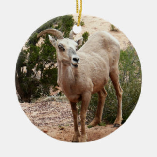 Funny Bighorn Sheep at Zion National Park Christmas Ornament