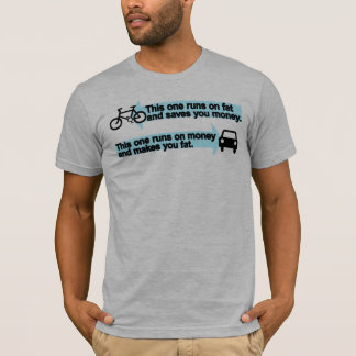 Funny Bike vs Car T-Shirt