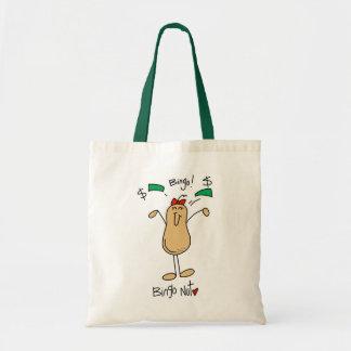 Funny Bingo Nut Gift Tote Bag