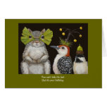 funny bird/animal birthday card