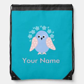funny bird drawstring bag