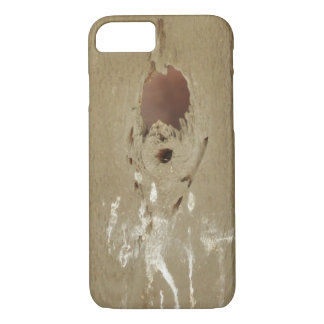 Funny Bird Poop Hole In Wood iPhone 8/7 Case