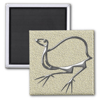 Funny bird steel square magnet