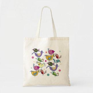 Funny birds tote bag