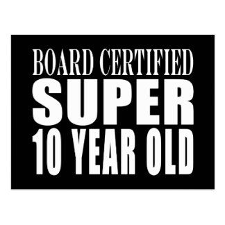 Funny Birthday B. Certified Super Ten Year Old Postcard