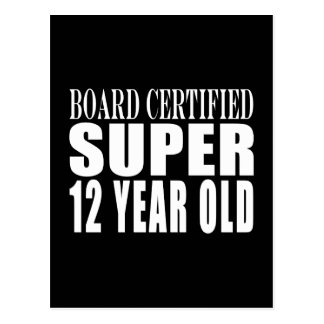 Funny Birthday B. Certified Super Twelve Year Old Postcard