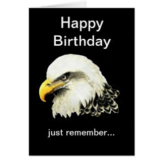 Funny Birthday, Bald is Beautiful Bald Eagle Card
