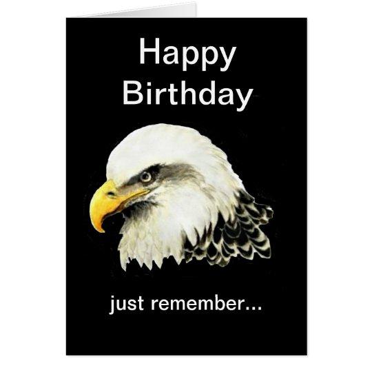 Funny Birthday, Bald is Beautiful Bald Eagle Card