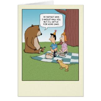 Funny Birthday: Bear Wants Cake Card
