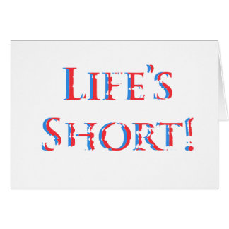 Funny birthday, blue & red, decayed text on white. greeting card