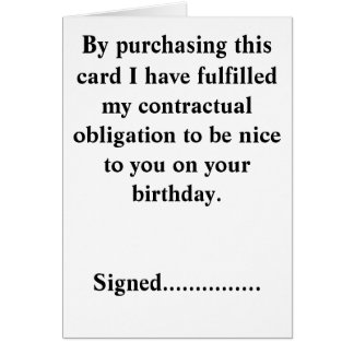 Funny Birthday Card. Greeting Card