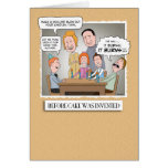 Funny birthday card: Before Cake Greeting Card